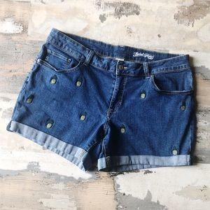 Faded Glory Pineapple Denim Shorts